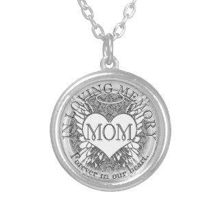 Asas do anjo da mamã  Memorial   Colar Com Pendente Redondo