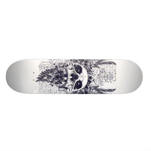 Asas do design do tatuagem do skate da morte