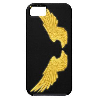 Asas douradas do anjo de Falln Capas Para iPhone 5