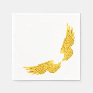 Asas douradas do anjo de Falln Guardanapo De Papel