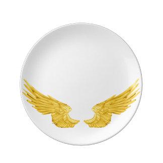 Asas douradas do anjo de Falln Louça De Jantar