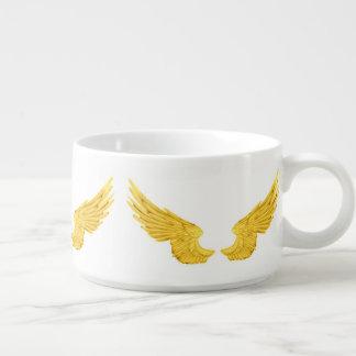 Asas douradas do anjo de Falln Tigela De Chili