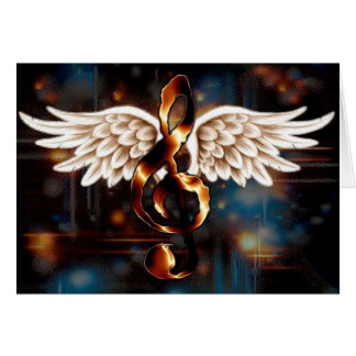 Asas musicais cartão comemorativo