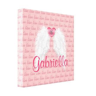 Asas personalizadas do anjo impressão em canvas