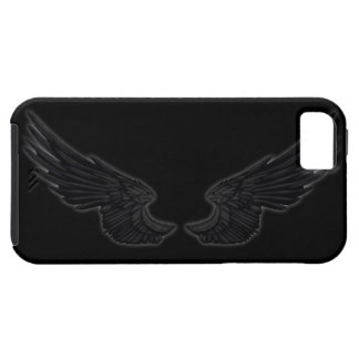 Asas pretas do anjo de Falln Capa Tough Para iPhone 5
