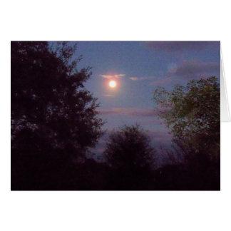 ascensão completa da lua do lobo - em um cartão