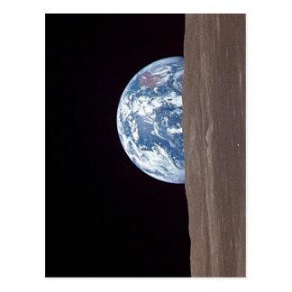Ascensão da terra da descrição sumária atrás da lu cartoes postais