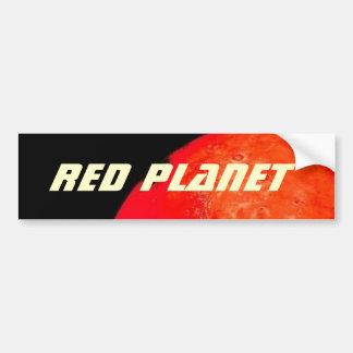 Ascensão vermelha do planeta adesivo para carro