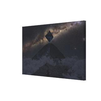 Asgard de aproximação (noite) impressão em tela