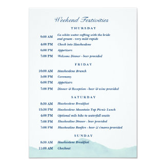 Ashley & programação 1 do casamento de Nolan Convite 11.30 X 15.87cm