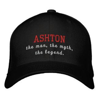 Ashton o homem, o mito, a legenda boné bordado