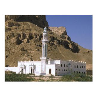 Ásia, Yemen, Tarim. Mesquita branca Cartão Postal