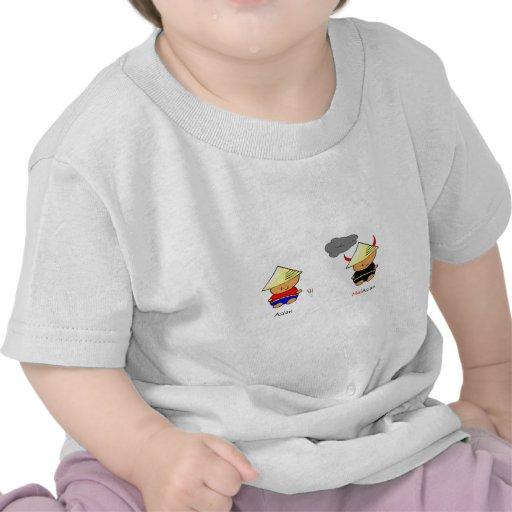 Asiático/malaio Camiseta