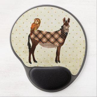 Asno da xadrez & coruja Mousepad Mouse Pad De Gel