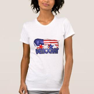 Asno Democrática da bandeira de ValxArt EUA Camisetas