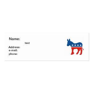 asno EUA do partido da democrata de Estados Unidos Cartão De Visita Skinny