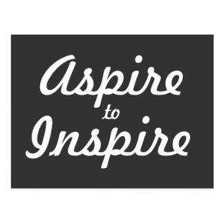 Aspire inspiram o cartão inspirador