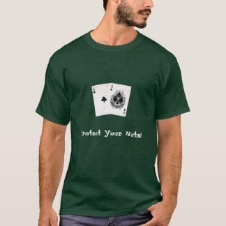 Áss do bolso do t-shirt do póquer camiseta