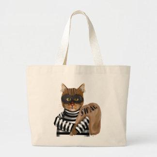 Assaltante de gato sacola tote jumbo