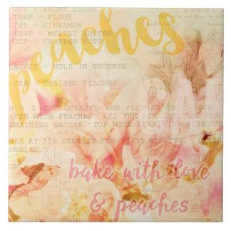 Assar com amor e colagem dos pêssegos
