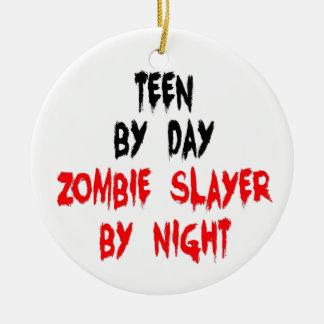Assassino adolescente do zombi ornamento de cerâmica