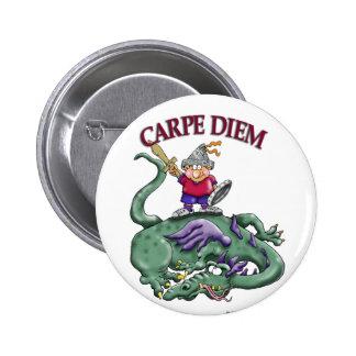 Assassino do dragão - CARPE DIEM Bóton Redondo 5.08cm