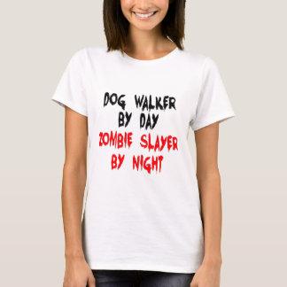 Assassino do zombi do caminhante do cão camiseta