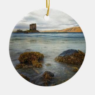 Assediador do castelo, Scotland Ornamento De Cerâmica Redondo