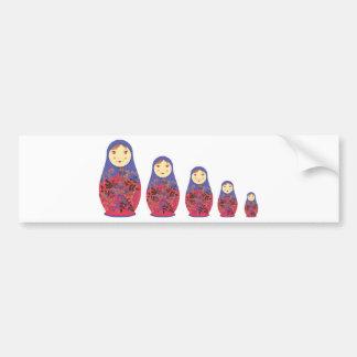 Assentamento/Babushka do russo do ~ da boneca de M Adesivo Para Carro