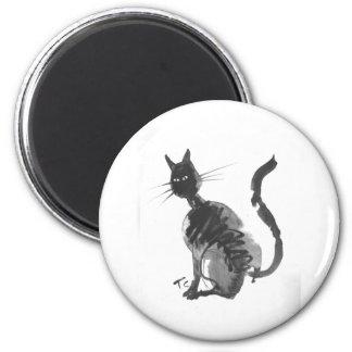 assento do gato preto imã
