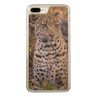 Assento do leopardo, Botswana, África Capa iPhone 8 Plus/ 7 Plus Carved