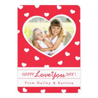 Assim cartão com fotos/vermelho dos namorados dos convite 12.7 x 17.78cm