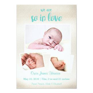 Assim no anúncio do nascimento do bebé do amor