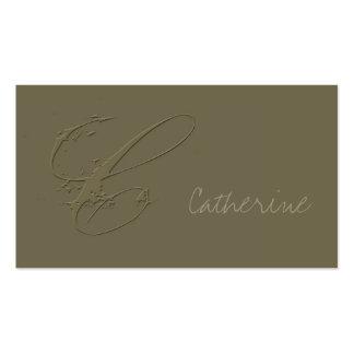 Assinatura C Cartões De Visitas