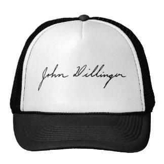 Assinatura de John Dillinger foragido notório Bonés