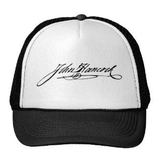 Assinatura do fundador John Hancock Bonés