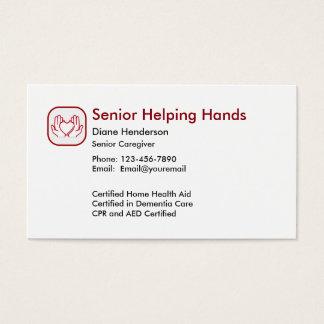 Assistência ao domicílio superior cartão de visitas