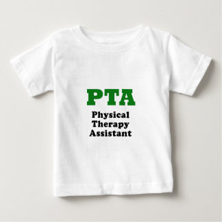 Assistente da fisioterapia da Pta Camiseta Para Bebê