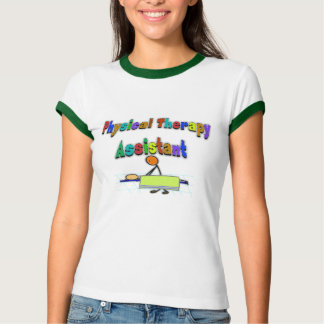 Assistente da fisioterapia--Figura design da vara Tshirts