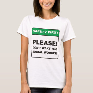 Assistente social/acordar camiseta