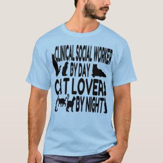 Assistente social clínico do amante do gato t-shirt
