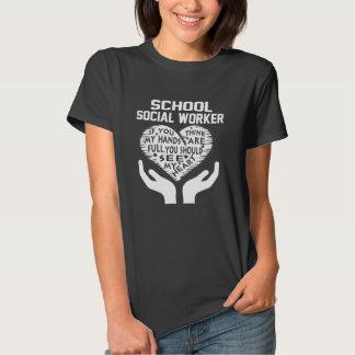 Assistente social da escola camiseta