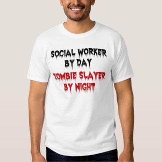 Assistente social pelo assassino do zombi do dia tshirts