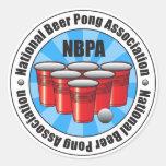 Associação nacional Starburst de Pong da cerveja Adesivo Redondo