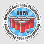 Associação nacional Starburst de Pong da cerveja d Adesivo Em Formato Redondo