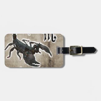 astrologia 2017 do scorpio etiqueta de bagagem