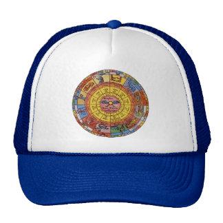 Astrologia celestial do vintage, roda antiga do boné