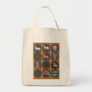 Astrologia do vintage, carta celestial do zodíaco, bolsas para compras