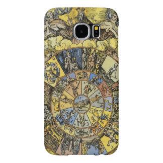 Astrologia do vintage, roda do zodíaco de capa para samsung galaxy s6
