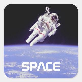 Astronauta Adesivo Quadrado
